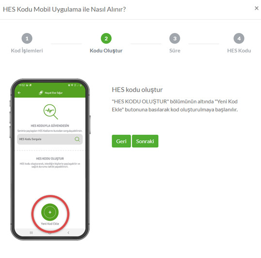 HES Kodu Mobil Uygulama ile nasıl alınır? (2)