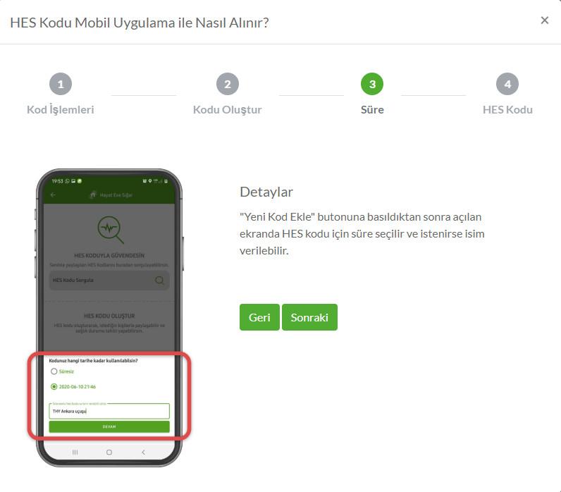 HES Kodu Mobil Uygulama ile nasıl alınır? (3)