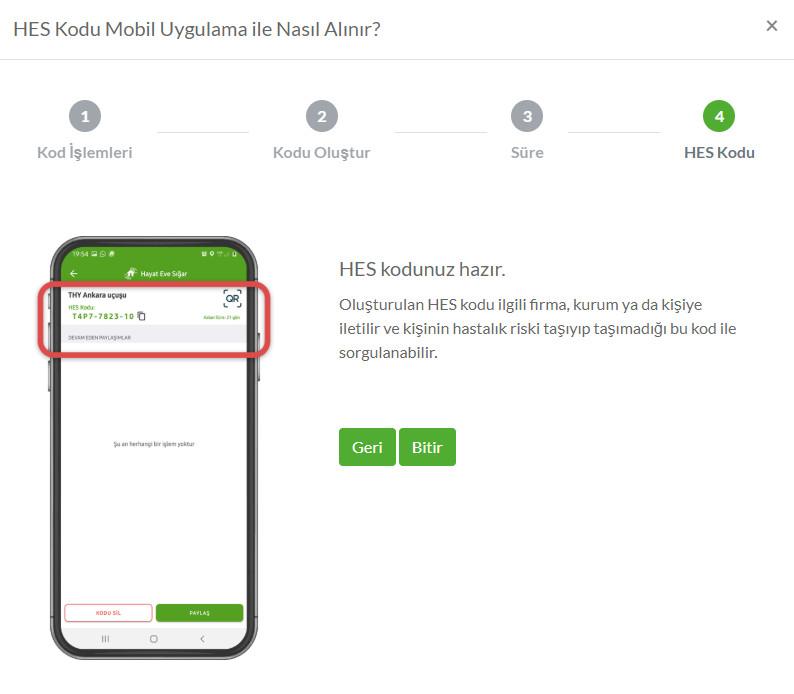 HES Kodu Mobil Uygulama ile nasıl alınır? (4)
