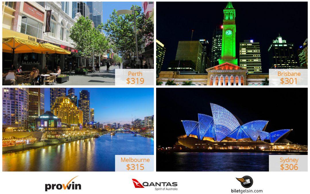 Qantas ile Avustralya'ya $301'dan başlayan fiyatlarla uçun