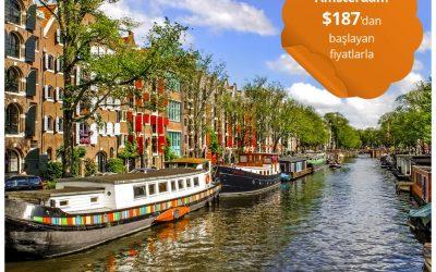 Türk Hava Yolları ile Amsterdam Gidiş-Dönüş $187'dan Başlayan Fiyatlarla