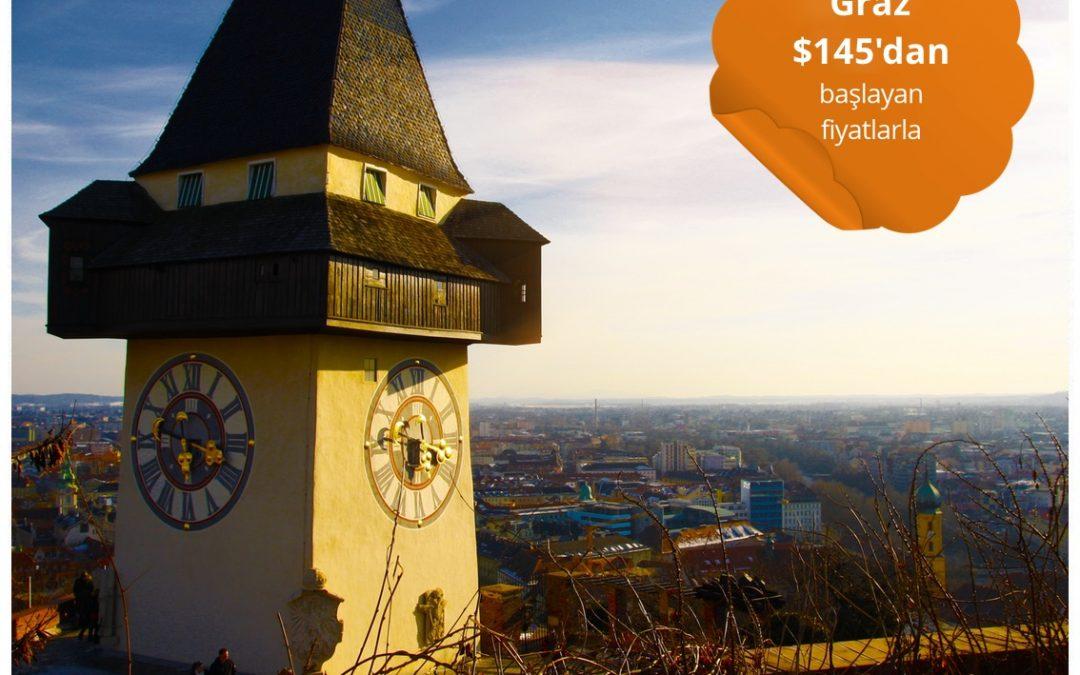 Graz'a Türk Hava Yolları ile Gidiş-Dönüş $145'dan Başlayan Fiyatlarla Uçun